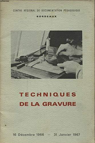 TECHNIQUE DE LA GRAVURE EN EUROPE 1440-1900 par COLLECTIF