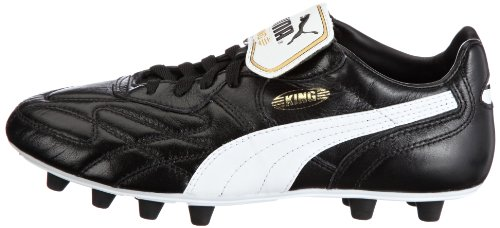 Puma King Top K di Firm Ground  Men s Football Competition Shoes  Black  Black White Team Gold   6 UK  39 EU
