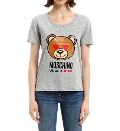 Moschino t-shirt girocollo donna underwear orso underbear colore grigio am18mo12