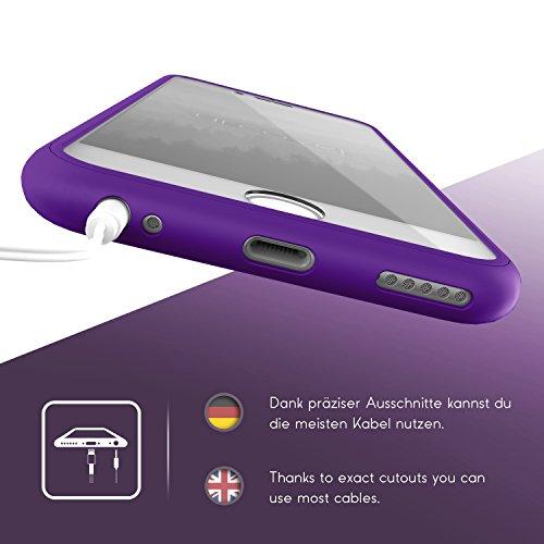 Urcover® Apple iPhone 6 Plus Touch Case Handy Schutz-Hülle [ Displayschutz ] Grün   Silikon TPU rundum   Slim Cover   Full Body View   Wallet Schale Lila