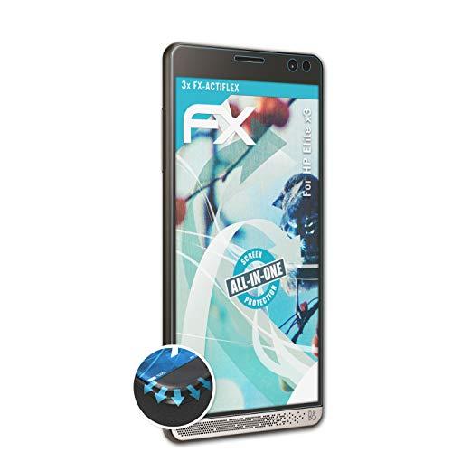 atFolix Schutzfolie passend für HP Elite x3 Folie, ultraklare und Flexible FX Displayschutzfolie (3X)