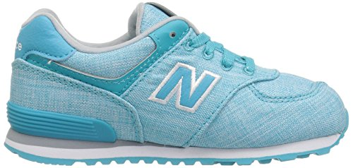 New Balance KL574, Sneakers basses fille Teal/White