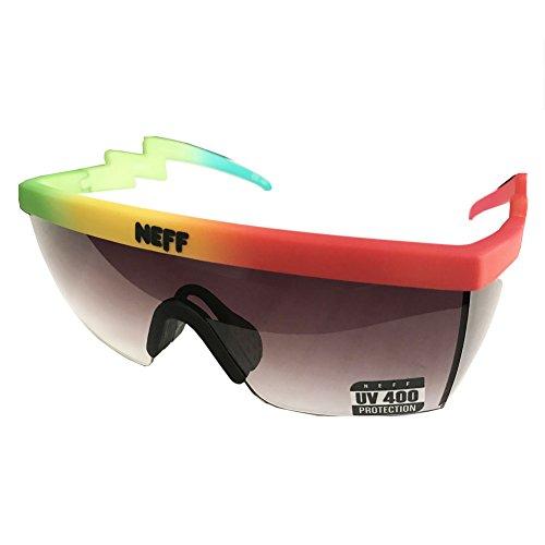 Neff Unisex Brodie Shades Sunglasses Rasta Multi-color