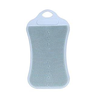 TAOtTAO 1 Stück Silikon Geschirrspülen Schwamm Scrubber Küche Reinigung Antibakterielle Werkzeug (Grau)