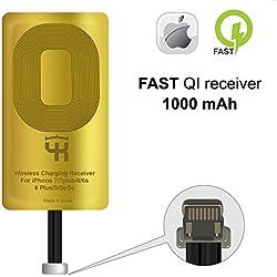 QI Récepteur pour iPhone 5- 5c- SE- 6- 6 Plus- 7- 7 Plus - iPad - QI Adaptateur iPhone - iPhone QI Charge Récepteur - iPhone QI Charge Récepteur - QI Wireless Charging Receiver Adapter