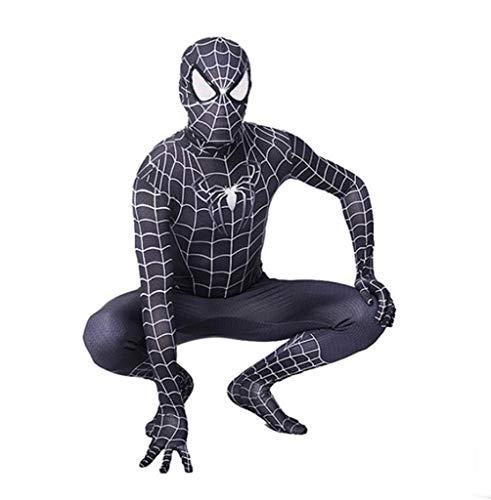 ZYFDFZ Iron Spiderman Cosplay Elastisches Enges Kleid Erwachsenes Kind Halloween Movie Stage Performance Requisiten Cosplay (Farbe : Schwarz, größe : M)