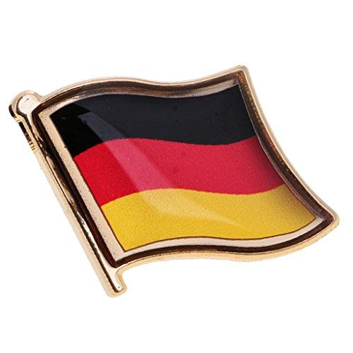 MagiDeal Nationalflaggen Metall Flaggen Abzeichen - Flaggenpin Flag Fahne Pin - Perfekt für Kleidung Tasche Deko, Geschenk, Sammler - Deutschland