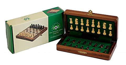 7 Inch Solid Wood Magnetic Chess