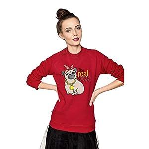 Amphia – Eltern-Kind-Kleidung – Pullover mit Kapuze – Letter Puppy Printed Sweatshirt – Mutter und Mädchen Kleidung,