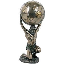 Atlas trägt die Welt auf s.Schultern bronziert Figur Skulptur Titan