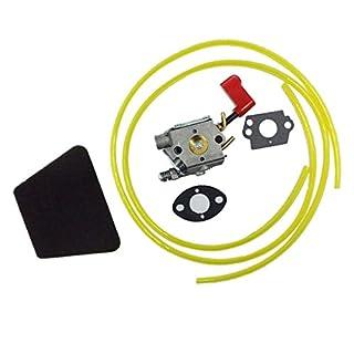 Backbayia Kit de Carburateur de Carb Filtre à Air Lignes de Carburant Outillage de Jardin Motorisé pour Tondeuses