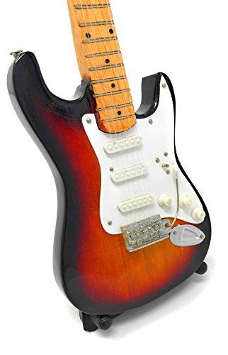 Guitarra en miniatura decorativa Guitarra Guitar Fender Stratocaster 24cm degradado # 146
