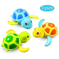 BRKURLEG Baby Bath Toys Clockwork Turtle,Wind up Water Toys Swimming Turtle Summer Pool Bathroom Float Toy Best Child Plastic Bathtub...