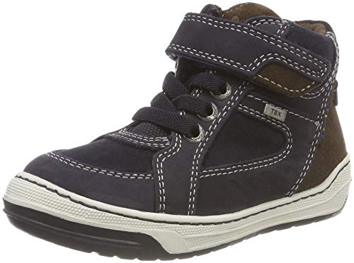 Lurchi Jungen Barney-TEX Hohe Sneaker, Blau (Atlantic Brown 22), 39 EU