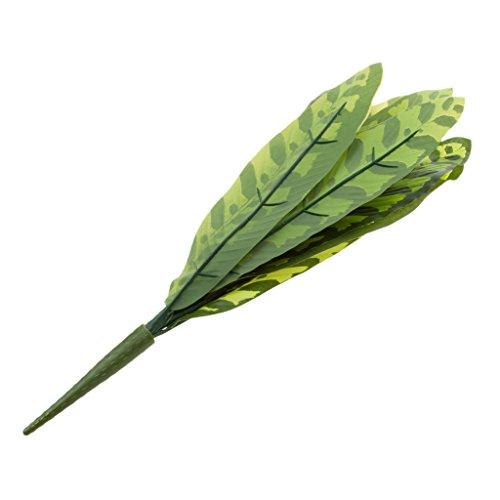 Gazechimp Künstlicher Mini Blattpflanzen - 10 Gabel Calathea, 37cm