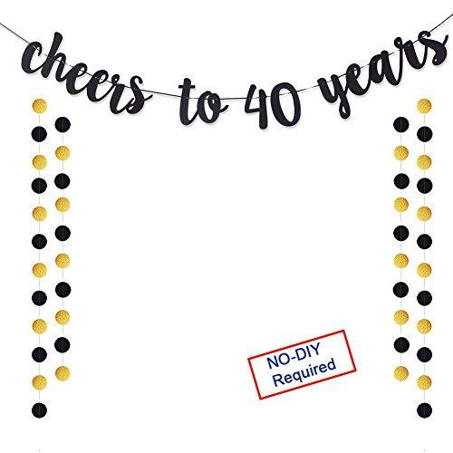 Gold Glitzer Banner für Erwachsene 30. Geburtstag Party Hochzeit Anniversary Party Dekorationen 40TH 40TH ()