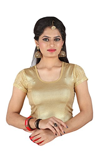 CDPL Express Shimmer Fully Stretchable Party Wear Free Size Readymade Saree Blouse...