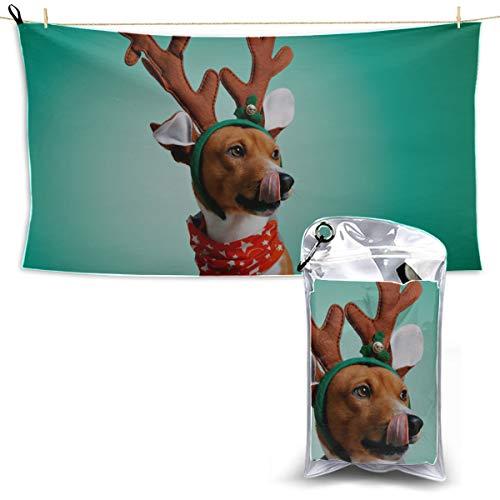 Hund tragen Weihnachten Kostüme Küchentücher für Camping Mädchen Handtuch Strand Quick Hair Dry Handtuch Reisen Badetuch 27,5 '' X 51 '' (70 X 130 cm) am besten für Gym Travel - Quick Hunde Kostüm