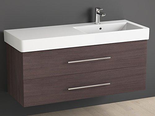 Mobile bagno 120 cm con lavabo in ceramica Aqua bagno piazza destra ...