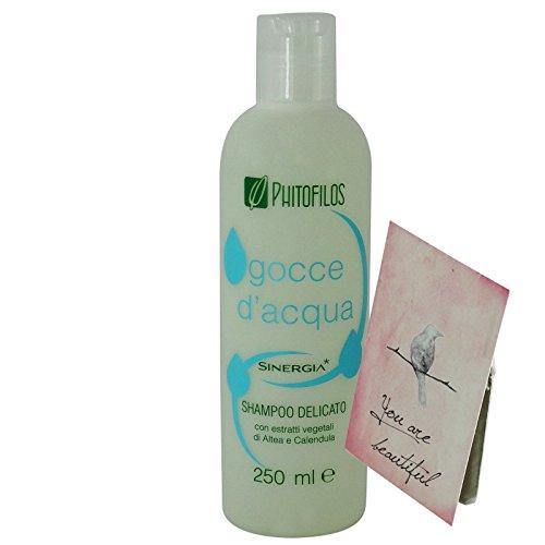 Phitofilos Sinergia Gocce d'Acqua Shampoo Delicato Capelli Grassi + Trattamento Yumi Incluso