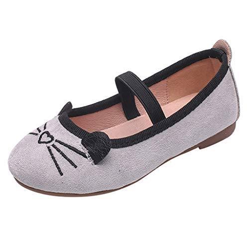 Xshuai  Shoes for Girl, Girls Cat Pattern Princess Shoes Autumn Flat Soft Peas Shoes Party Casual Shoes Anti-Slip Socks Slipper Shoes