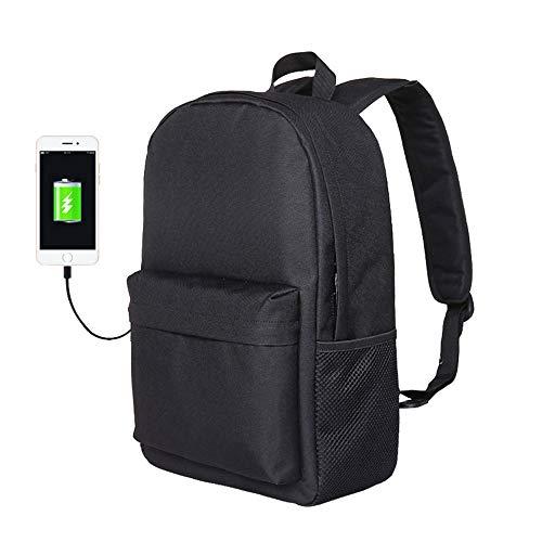 SUNQQC Jugend Kleine Mini Rucksack Schultasche Für Mädchen Frauen Männlichen USB Laptop Bagpack Schulrucksack Für Jugendliche Mädchen Jungen,Purple-15 Inches