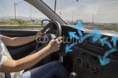 "Alu-Dibond-Bild 140 x 90 cm: \""car ventilator air condition\"", Bild auf Alu-Dibond"