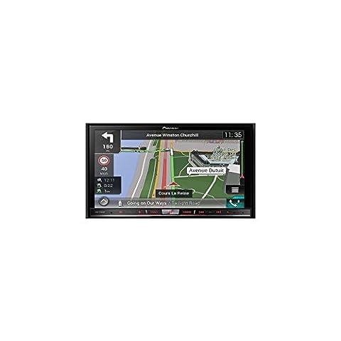 "Pioneer Naviceiver AVIC-F80DAB | High Quality Multimedia Autoradio mit 7"" Zoll Doppel Din Radio mit Navi | DAB+ | Bluetooth Freisprechfunktion | RDS-TMC | Touchscreen | CD/DVD Player | AV | USB |"