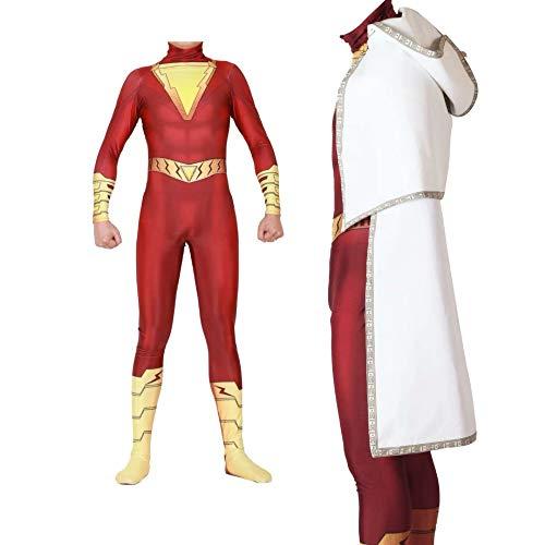 HUIHONG Männer Magic Captain Overall Weihnachten Halloween Show Cosplay Kostüm Adult Kostüm Deluxe Adult Body Tights Surprise - Adult Deluxe Red M & M's Kostüm