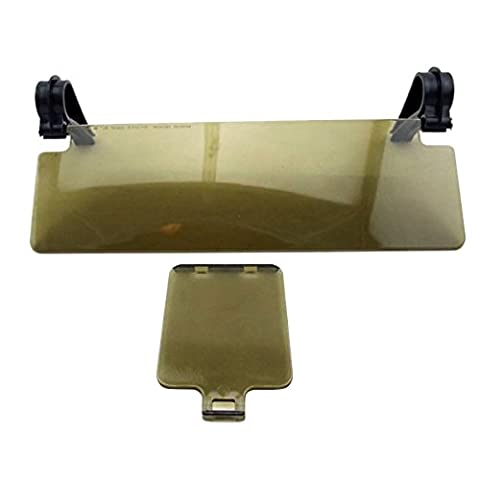 SODIAL(R) Durable New Sun Shield Anti Glare Anti-dazzle Clip-on Auto Car Sun Visor Mirror