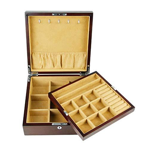 Schmuckschatulle Schmuckkasten Uhr Display Aufbewahrungsbox Sammlungs-Fall-Organisator-Halter Aus Holz (Anpassbare Uhren-box)