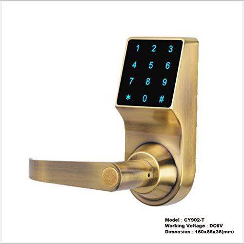 Preisvergleich Produktbild Smart Door Lock Touchscreen Digital Keypad Lock Keyless Anti-Diebstahl für Aluminium oder Holztür