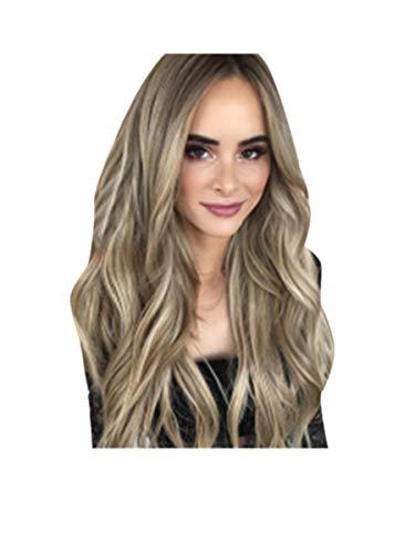 Zolimx Mode Lange Perücke Frauen Mischen Farben Farbverlauf Lange Lockige Synthetische Perücke volle Perucke Gewellte ()