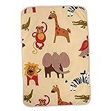 B Baosity Baby Wickelunterlage Wickelauflage Wickeltischauflage 90x60cm - Giraffe