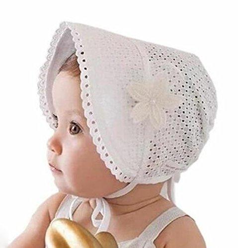 Drawihi 1-3 Jahre alt Kinder Sweet Princess Style Baby Mädchen Niedliches Sommer-Cap für Infant Kleinkind (Weiß)