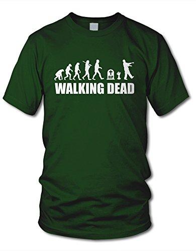 shirtloge - EVOLUTION WALKING DEAD - KULT - Fun T-Shirt - in verschiedenen Farben & Größe Dunkelgrün
