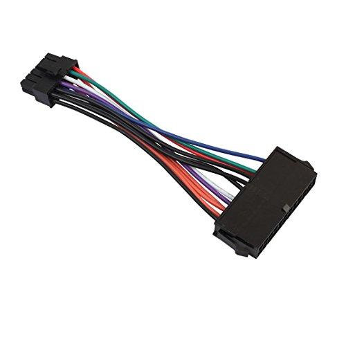 Wokee ATX-Stromadapter Netzteil 15cm ATX 24 Pin zu 12 Pin Netzteil Kabel 24p zu 12p Kabel für Acer Q87H3-AM 12 Zoll Kabel