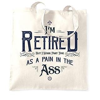 Pensionierung Tragetasche Ich bin im Ruhestand, aber ich arbeite Teilzeit White One Size
