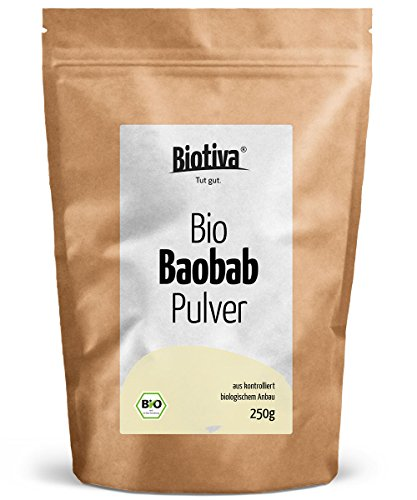 Baobab Pulver Bio (250g) - Biobaobab in Premium Bio-Qualität - Apothekerbaum - Affenbrotbaum - Affenbrotbäume -Adansonia - Kontrolliert und abgefüllt in Deutschland (DE-ÖKO-005) -