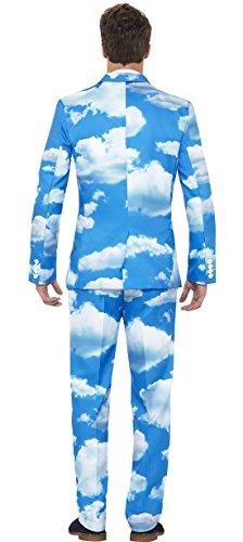 Männer Himmel Wolken Anzug mit Jacke, Hose und Krawatte, M, Mehrfarbig (Fett Kostüme Für Mädchen)