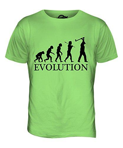 CandyMix Holzhacken Evolution Des Menschen Herren T Shirt Limettengrün