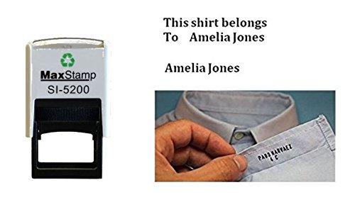 Trodat 4911personalisierbar Kleidung Marker Stoff Textil Gummi Stempel Schule Uniform nicht Do it yourself-bis zu 3Zeilen-37x 13mm - Gummi-stempel Namen Dem Mit
