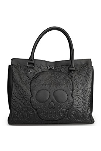 loungefly-on-black-black-reseaux-skull-tote