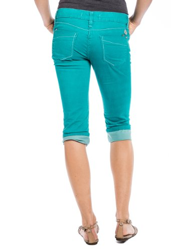 Timezone Damen Short 15-0173 TaliTZ 3/4 pants Grün (emerald green 4158)