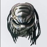 Smotly Motorradhelm,Jagged Warrior Helm Alien Personal Predator Integralhelm Harley Motorcycle...
