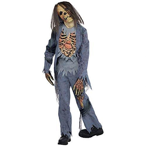 Zombie Gr. 164 162 Skelett Halloween Kostüm Kinder Halloweenkostüm Kinderkostüm (Zombie Kostüme Skelett)