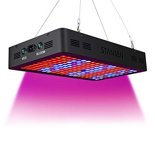 1800W LED Grow Light - Pflanzenwachstumslampe LED-Leuchte für Zimmergewächshaus-Hydroponikpflanzen für Zimmergewächshauspflanzen Gewächshausgemüse Blumen-black