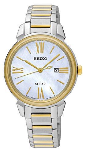 Seiko Damen Analog Solar Uhr mit Edelstahl Armband SUT324P1 - Uhr Seiko Damen Solar
