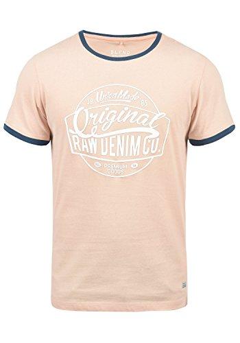 Blend Malex Herren T-Shirt Kurzarm Mit Rundhalsausschnitt Aus 100% Baumwolle, Größe:S, Farbe:Cameo Rose (73835) -
