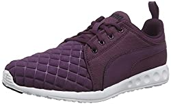 Puma Womens Carson Runner Quilt Wn s Italian Plum and Black Mesh Running Shoes - 6 UK/India (39 EU)